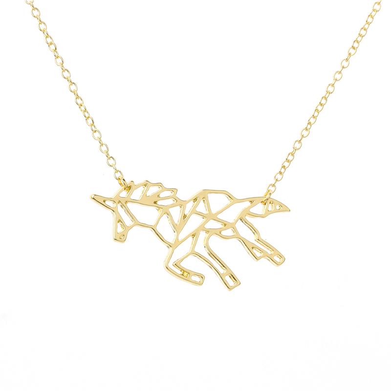 Collier Licorne doré