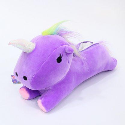 Trousse peluche Licorne violet